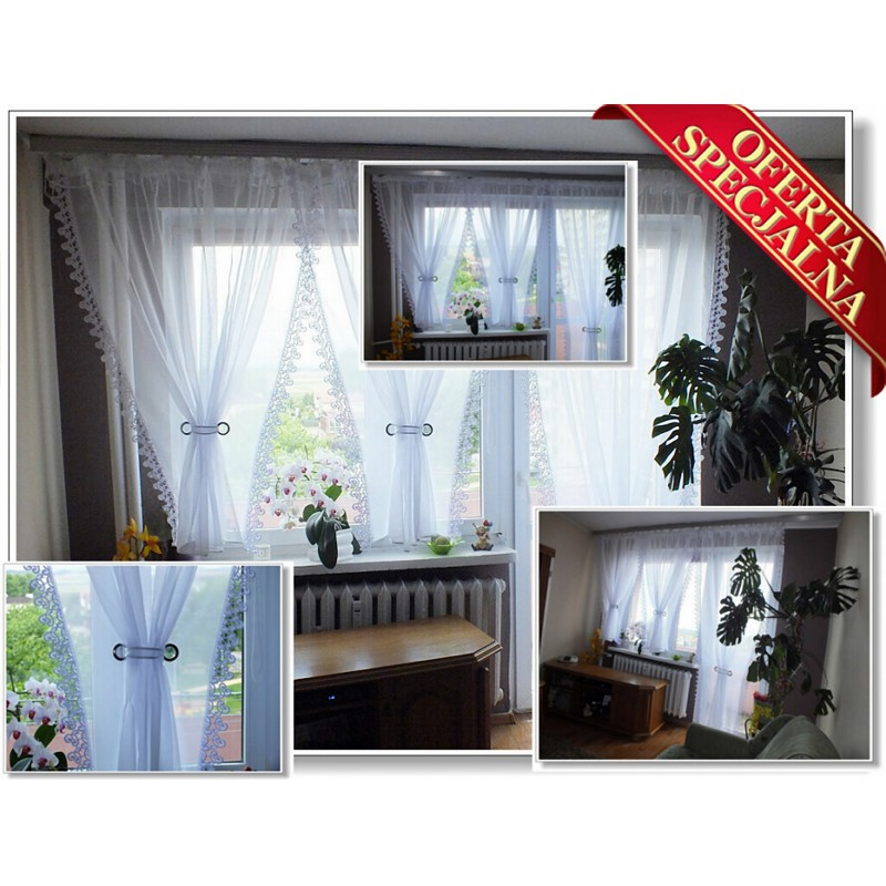 firany firana woal daniela 400x150 balkon 150x250 gardinen curtain. Black Bedroom Furniture Sets. Home Design Ideas